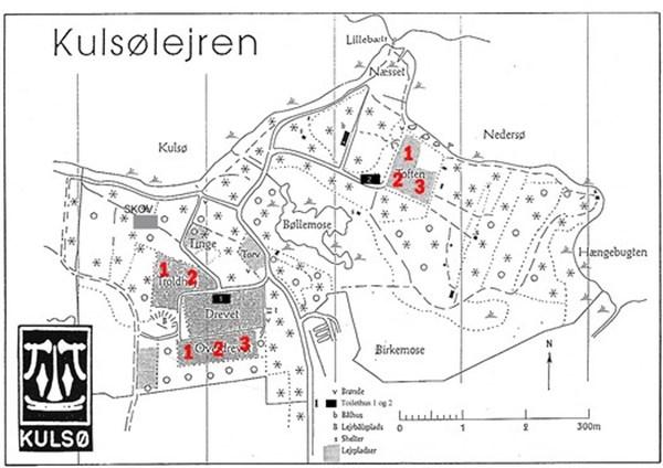 Kulsølejren, nummererede lejrpladser